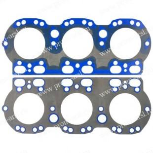 Прокладка Головки блока МАЗ Дв.236 н/о ( сталь+силикон синий/зеленый ) единое изделие