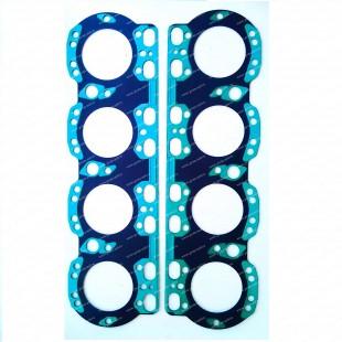 Прокладка Головки блока МАЗ Дв.238 н/о  ( сталь+силикон синий/зеленый ) единое изделие